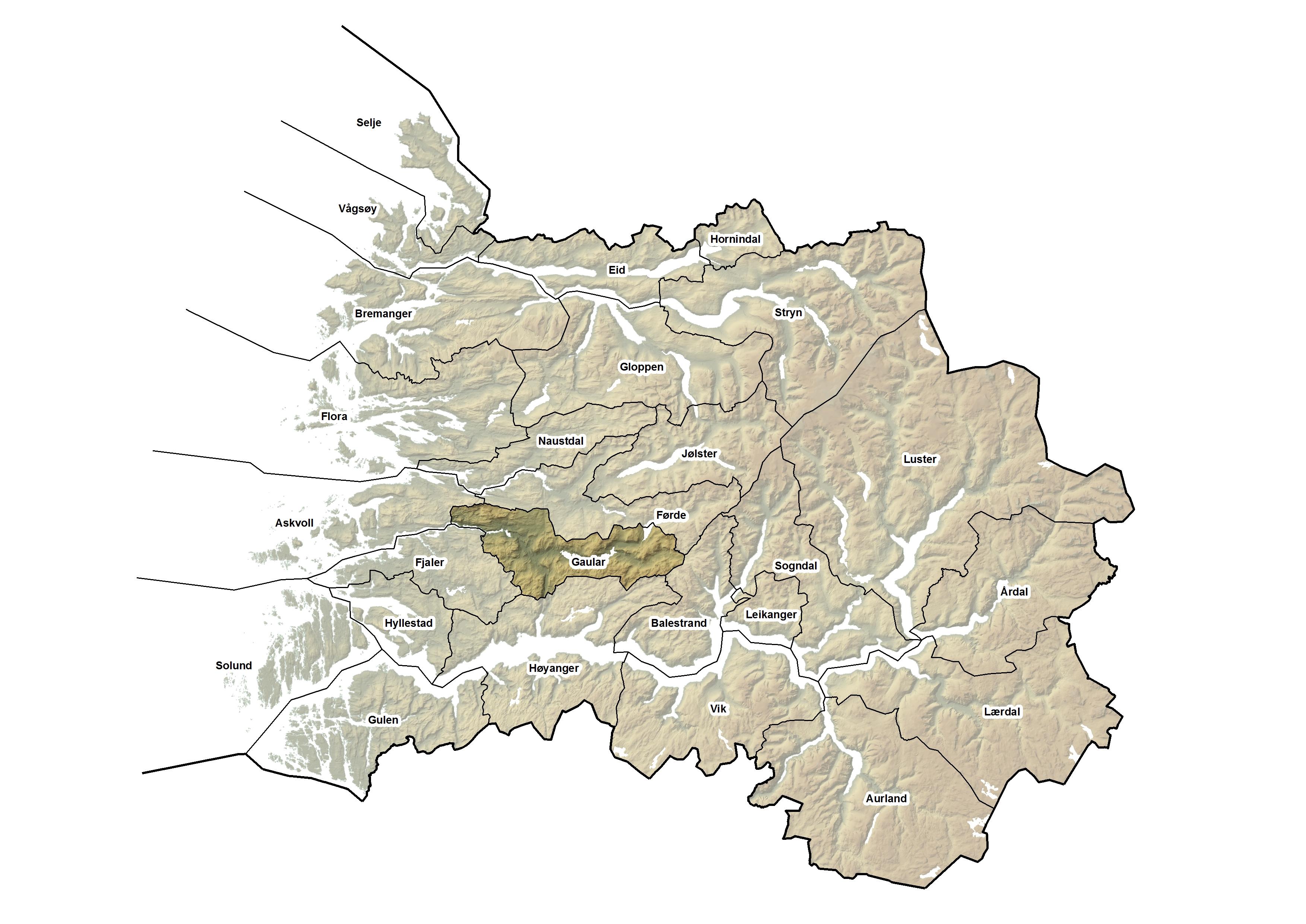 Gaular kommune, kart.jpg