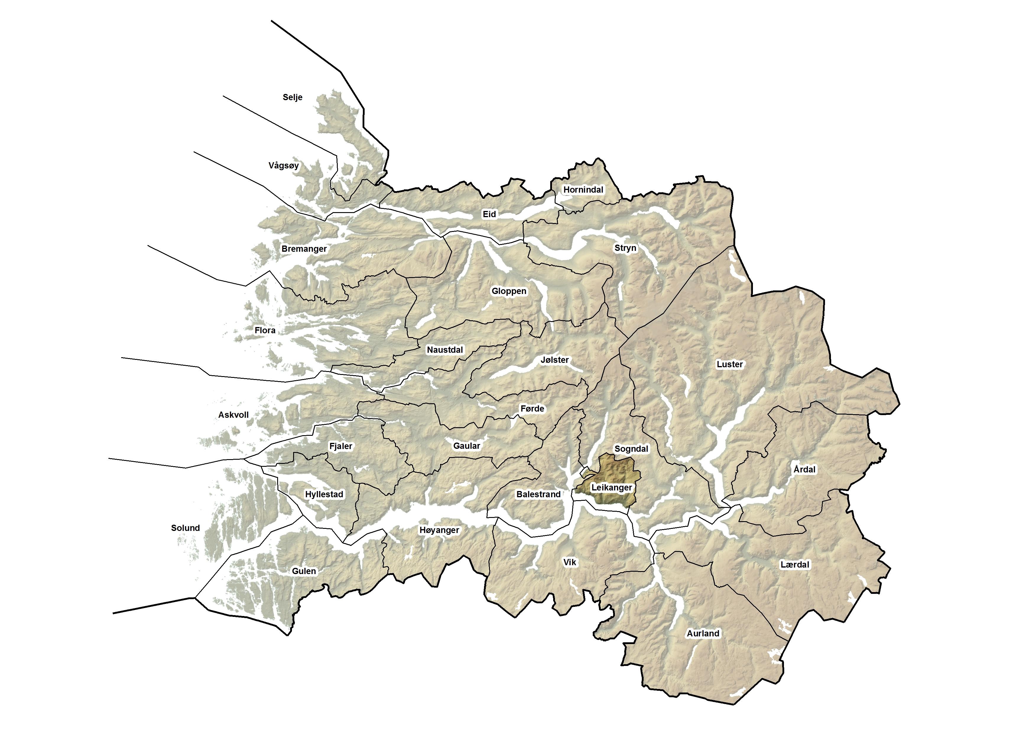 Leikanger kommune, kart.jpg