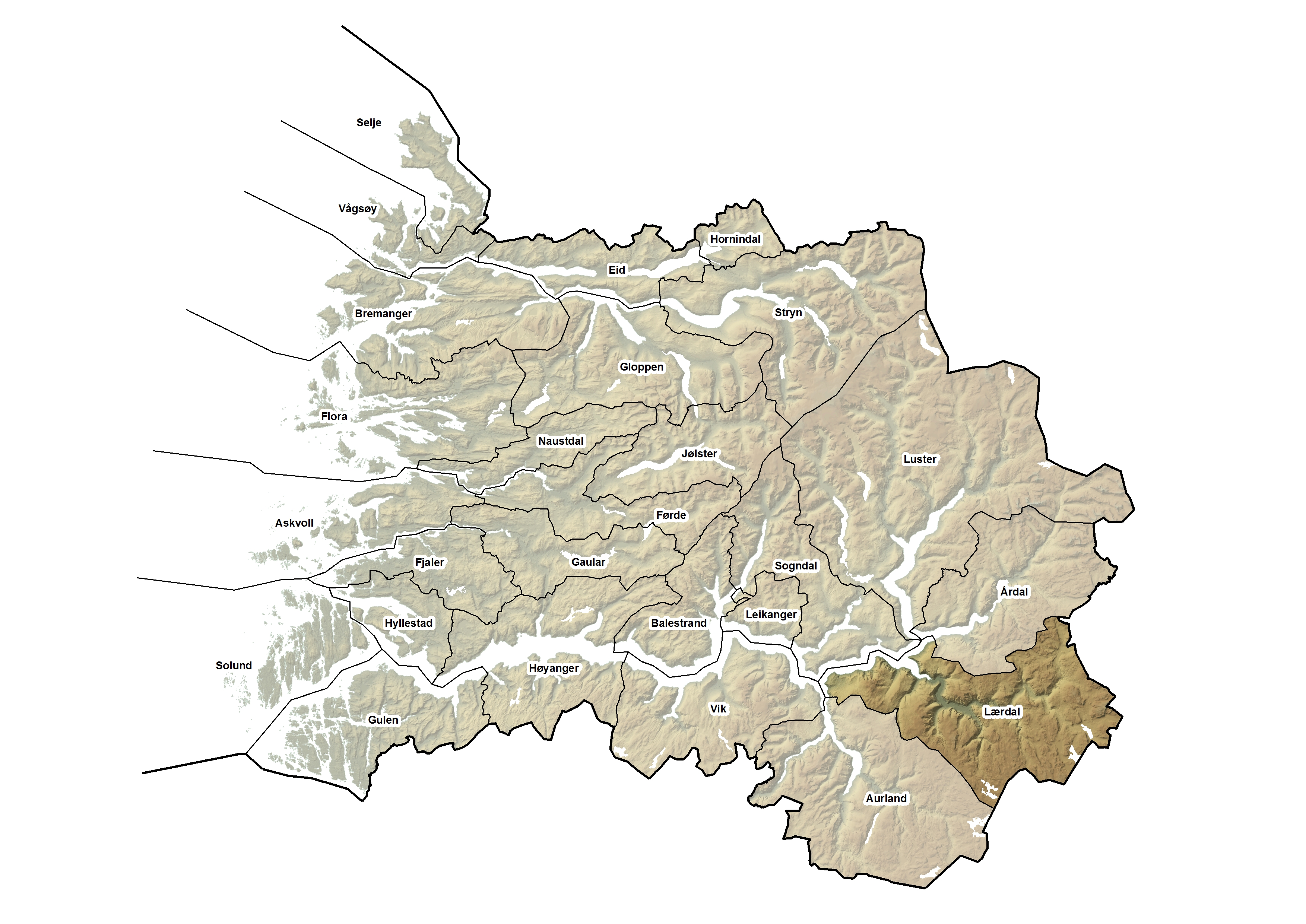 Lærdal kommune, kart.jpg