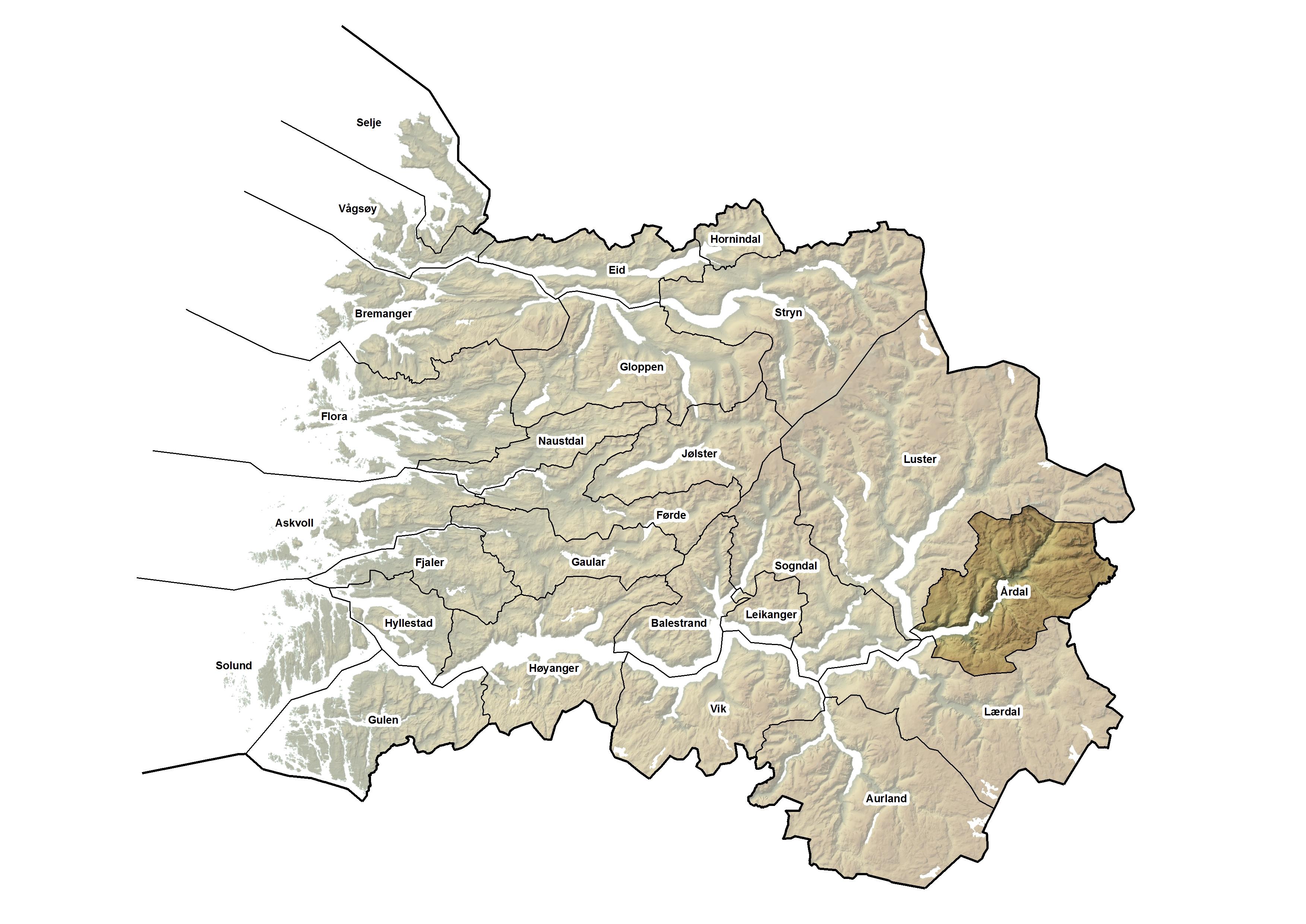 Årdal kommune, kart.jpg