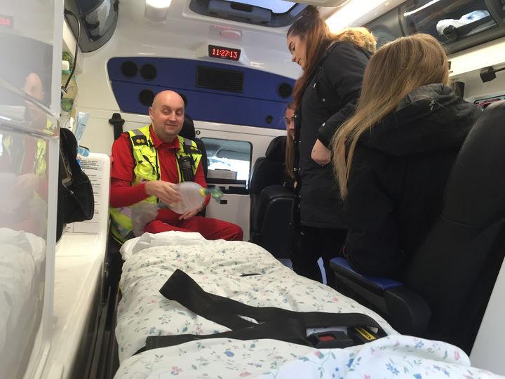 Innvendig i Ambulansen