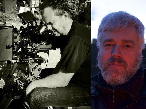 Fotomontasje samansett av to biletet av filmprodusent Einar Loftesnes og fotograf Jakob Ingimundarson.