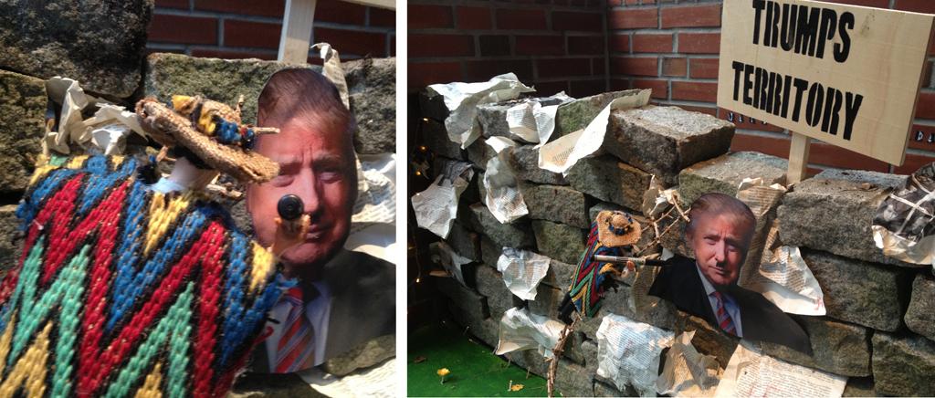 Installasjon med inspirasjon frå Donald Trump - Foto Silja Juklestad
