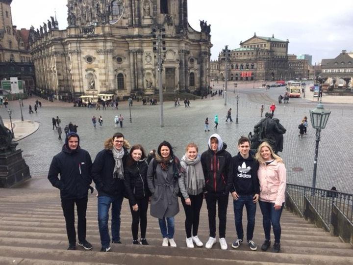 Elevane frå 2 STA i Dresden.