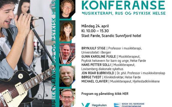 Bilde med program for konferanse om musikkterapi