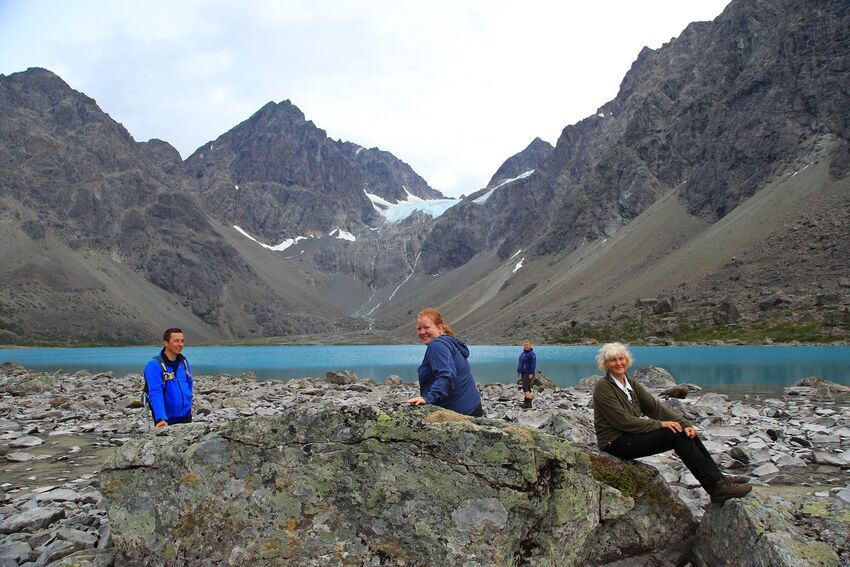 Blåisvatnet i Lyngen. Foto: Tine Marie Valbjørn Hagelin