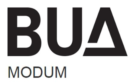 Svart BUA Modum Logo