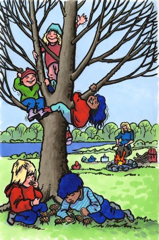 Situasjonsbilde - barn i trær