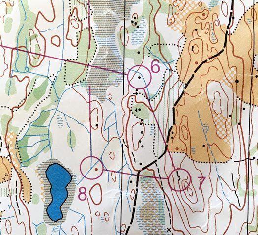 Rondslitet. Kart: Rond Orienteringslag.