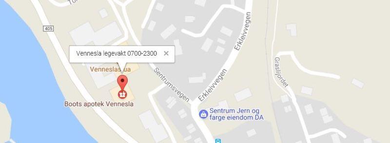 Kart Vennesla legevakt