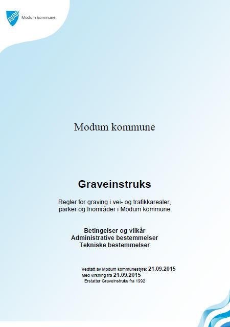 Graveinstruks forside