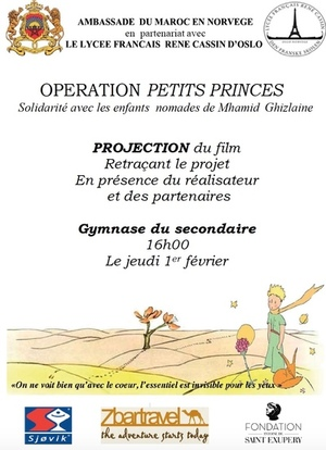 affiche fiche projet humanitaire petits prince