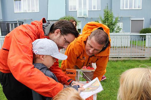 O-instruksjon på Årvoll høsten 2017. Foto: Hans L. Werp.