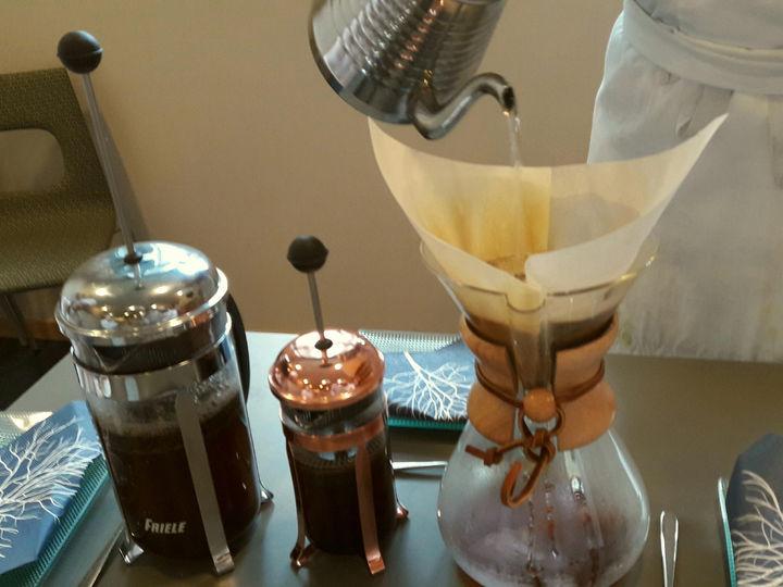 Brygging av Chemex kaffi