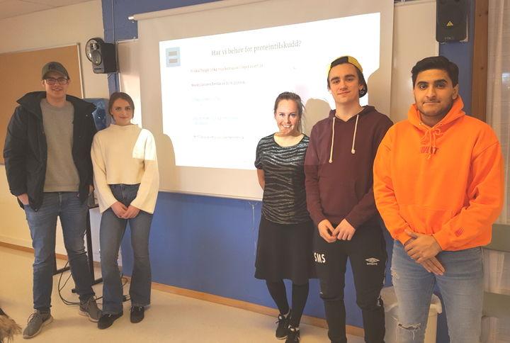 F.V Håkon Kongshaug, Kaya Røstøen Remme, Celine Gjønnes, Sondre Silden og Shehroz Rafique