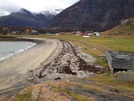 Sandvika på Ørneshalvøya i Lyngen er et statlig sikra friluftsområde, delvis tilrettelagt for rullestolbrukere. Foto: Maja S. Kvalvik