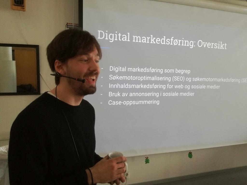 Endre Erdal i presentasjon
