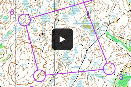 Utsnitt fra H21-løypa i Eikerløpet. Kart: Eiker Orienteringslag.