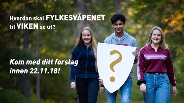 Bannerbilde nytt fylkesvåpen til Viken fylkeskommune