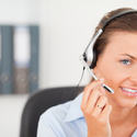 An operator supporting a customer