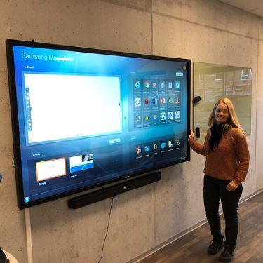 LinaSandell viser digital tavle
