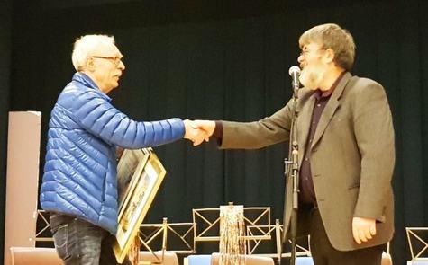 Birger Wergeland mottek Frivilligprisen.