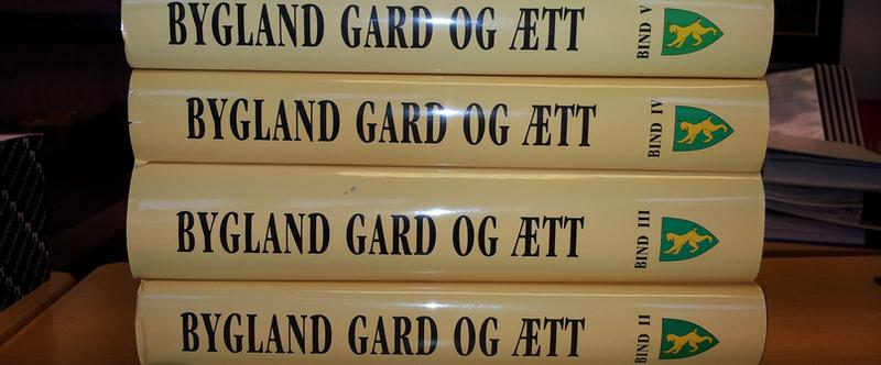 Bygdebøker Bygland Gard og Ætt