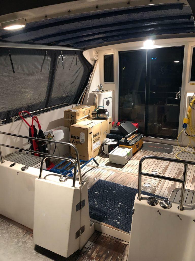 Båten lastet og klar for øytur