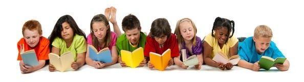 Situasjonsbilde barn leser