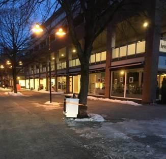 Komfyr plassert i Vennesla sentrum