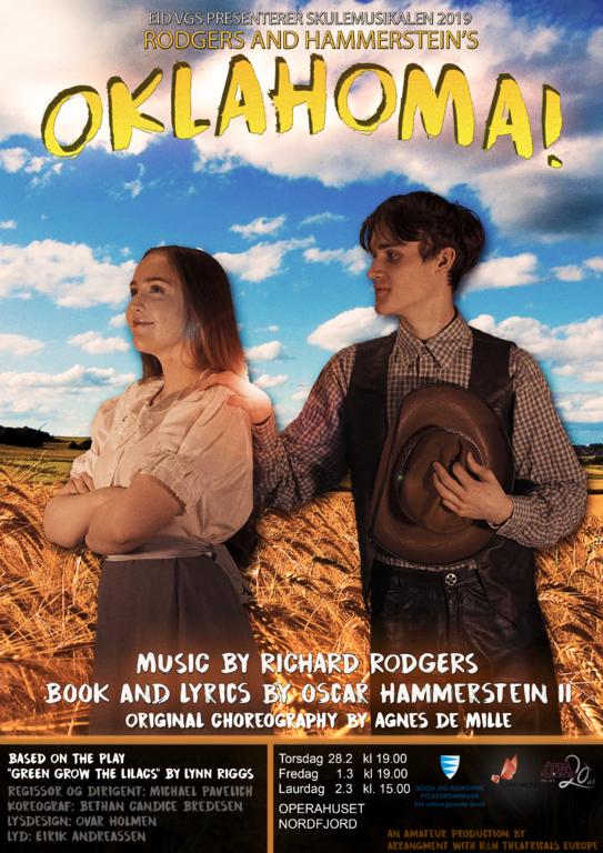 Plakaten til musikalen Oklahoma!