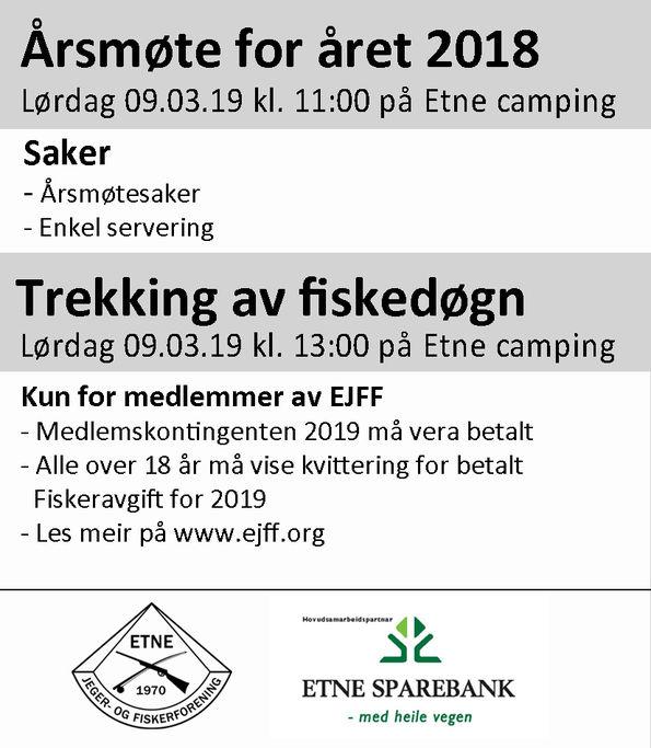 Annonse Årsmøte 2018 090319