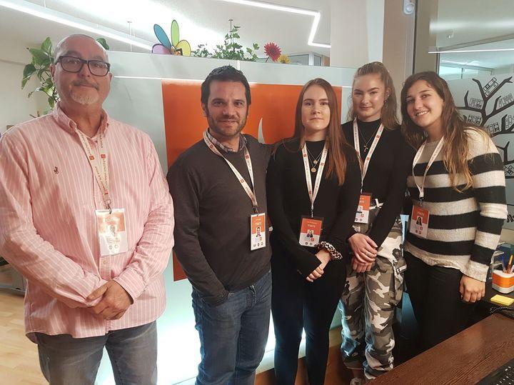 Frå Instituto Hispanico de Murcia. Nina og Ann Jeanette, Esther, Manuel og Felipe   Foto: Johanne Elisabett Sørdal