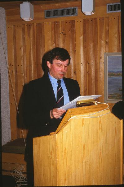 Leder i Historielaget - en ung Olav E. Johansen