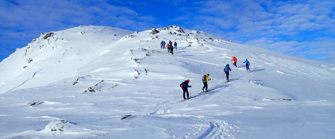 Topptur til Raunekletten nær  1100 moh, foto JH