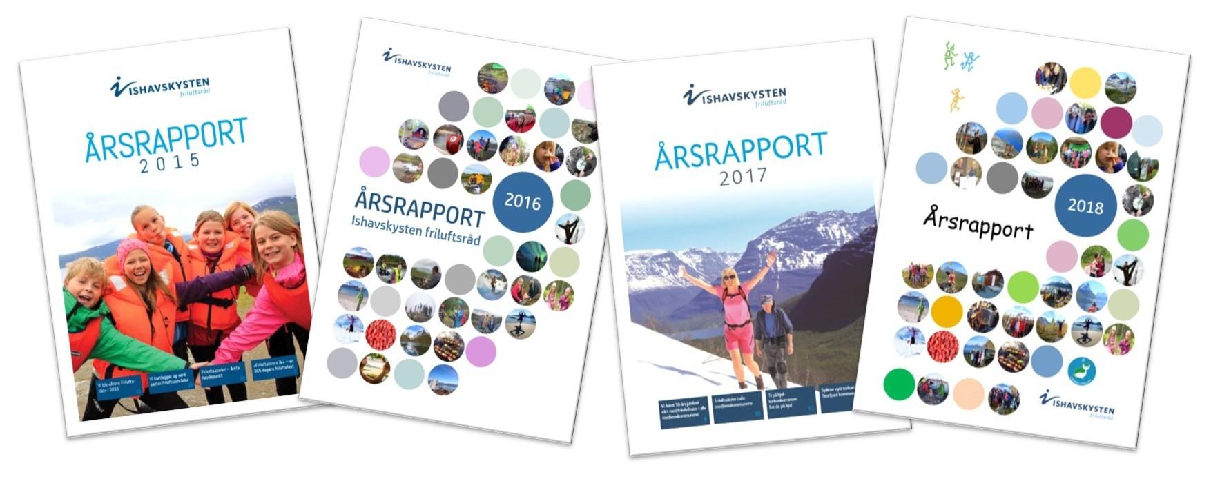 Årsrapporter2015-2018 forsider