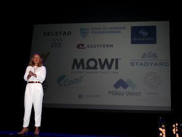 Framflytkonferansen 2019. Stine Lilloe-Olsen var konferansier.