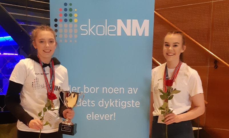 Norgesmeistrane Iselin Husevåg og Oline Challen