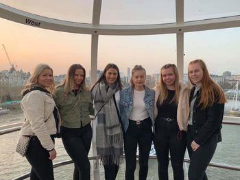 Elevane frå Sogndal vgs London Eye