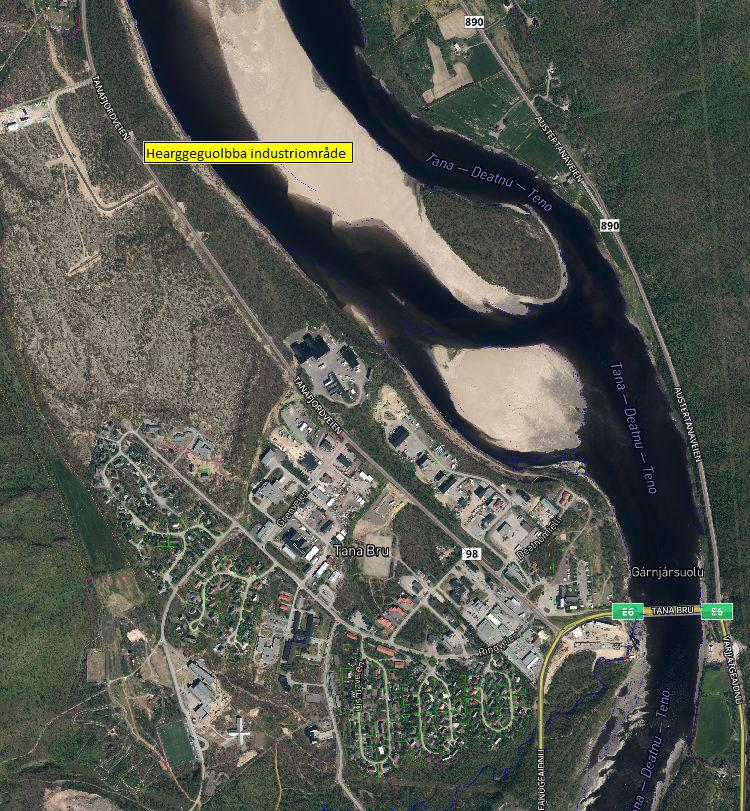 Tanabru med Hearggeguolba industriområde1