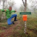 Kim Harry Hansen er strålende fornøyd med merkingen i Lakselvbukt. Foto: Tine Marie Valbjørn Hagelin
