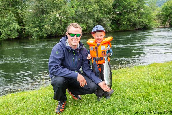 Bilde frå Barne- og ungdomsfiske 2019