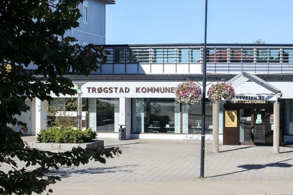 Bilde av kommunehuset fra Skjønhaugprosjektet