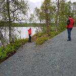 Skrivarholmen, befaring av rullestolveg 2019. Foto: Maja Sjöskog Kvalvik
