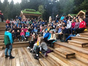 Bilde frå TIN-camp i Trivselsskogen