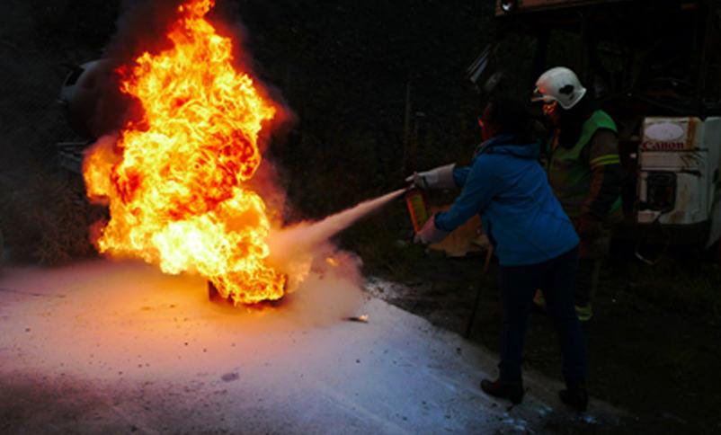 Slokking av brann ism øving
