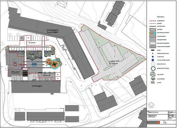 Bilde av planene for Trøgstad Torg