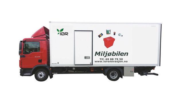 Bilde av mijøbilen til indre østfold renovasjon