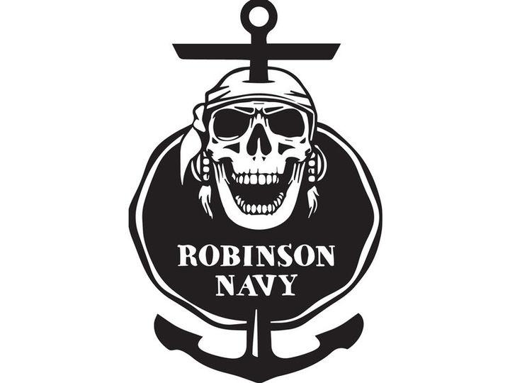 Logo med sjørøvar og anker