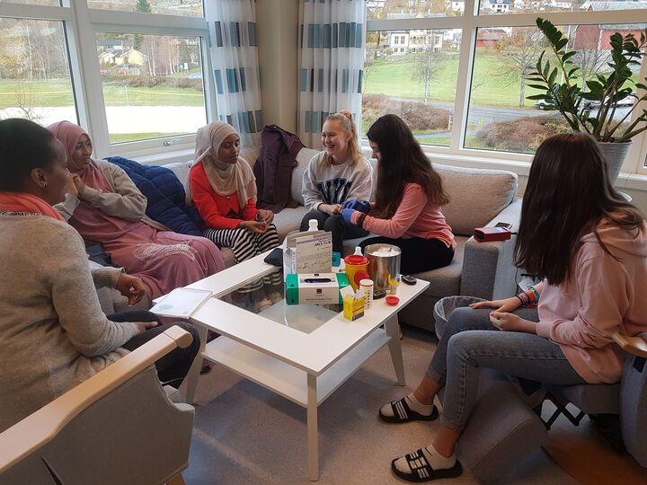 Hospitering 2019   1o.klasse i Nordfjord    Foto: Johanne Elisabett Sørdal